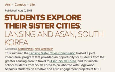 Asan, Korea Students Visit Lansing Area